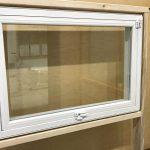 Egress window in a display room