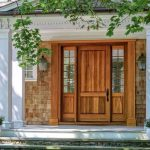 Lepage wooden entry door with sidelites