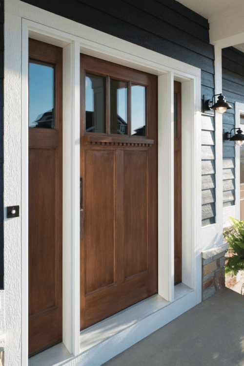 Fibreglass entry door