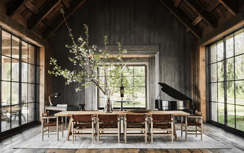 Mila Kunis and Ashton Kutcher's celebrity home dining room