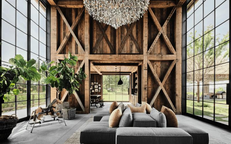 Mila Kunis and Ashton Kutcher's living room