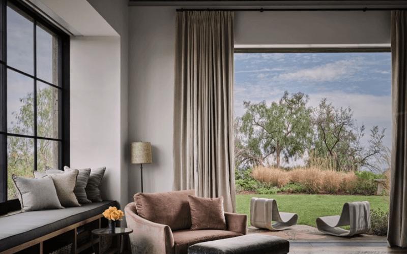sitting room black grille windows