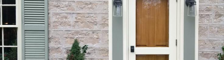 front door with window that opens, exterior door vents, exterior back doors with windows, exterior doors with ventilation, on exterior doors with windows that open